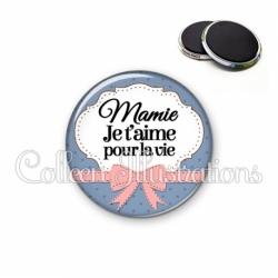 Magnet 56mm Mamie je t'aime pour la vie (183BLE01)