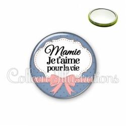 Miroir 56mm Mamie je t'aime pour la vie (183BLE01)