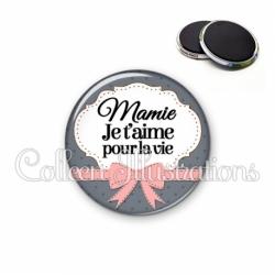Magnet 56mm Mamie je t'aime pour la vie (183GRI01)