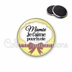 Magnet 56mm Mamie je t'aime pour la vie (183JAU01)