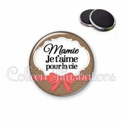 Magnet 56mm Mamie je t'aime pour la vie (183MAR01)