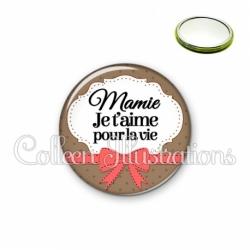 Miroir 56mm Mamie je t'aime pour la vie (183MAR01)