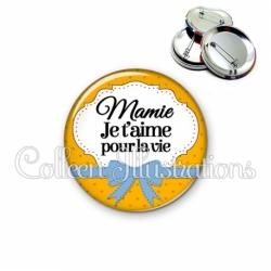 Badge 56mm Mamie je t'aime pour la vie (183ORA01)