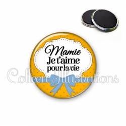 Magnet 56mm Mamie je t'aime pour la vie (183ORA01)