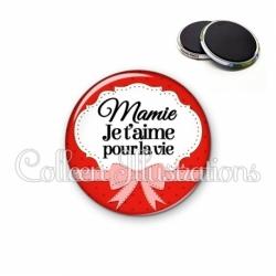 Magnet 56mm Mamie je t'aime pour la vie (183ROU01)