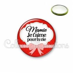 Miroir 56mm Mamie je t'aime pour la vie (183ROU01)
