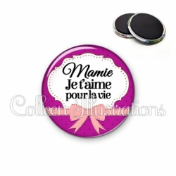 Magnet 56mm Mamie je t'aime pour la vie (183VIO01)