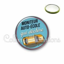 Miroir 56mm Moniteur auto-école qui déchire (032BLE01)