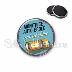 Magnet 56mm Monitrice auto-école qui déchire (032BLE01)