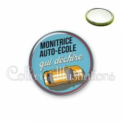 Miroir 56mm Monitrice auto-école qui déchire (032BLE01)