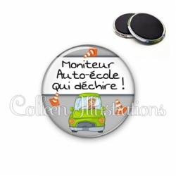 Magnet 56mm Moniteur auto-école qui déchire (184GRI01)