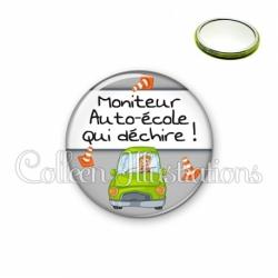 Miroir 56mm Moniteur auto-école qui déchire (184GRI01)