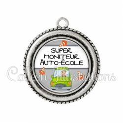 Pendentif résine Super moniteur auto-école (184GRI01)