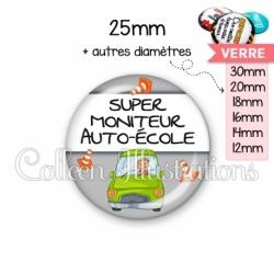 Cabochon en verre Super moniteur auto-école (184GRI01)