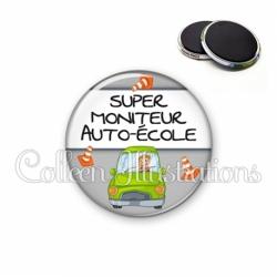 Magnet 56mm Super moniteur auto-école (184GRI01)
