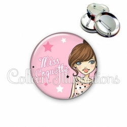 Badge 56mm Miss coquette (173ROS03)