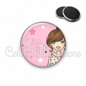 Magnet 56mm Miss coquette (173ROS03)