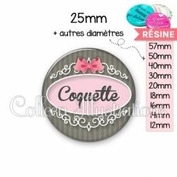 Cabochon en résine epoxy Coquette (043GRI01)