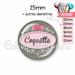 Cabochon en verre Coquette (043GRI01)