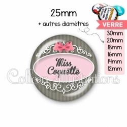Cabochon en verre Miss coquette (043GRI01)