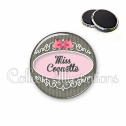 Magnet 56mm Miss coquette (043GRI01)