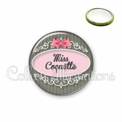 Miroir 56mm Miss coquette (043GRI01)