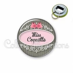 Décapsuleur 56mm Miss coquette (043GRI01)