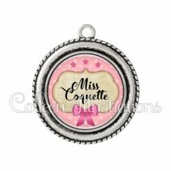 Pendentif résine Miss coquette (006ROS03)