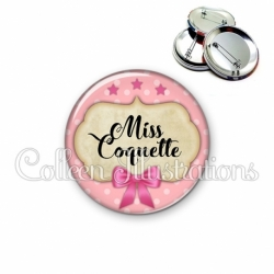 Badge 56mm Miss coquette (006ROS03)