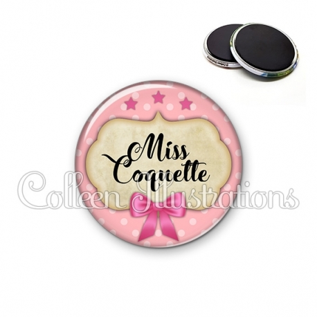 Magnet 56mm Miss coquette (006ROS03)