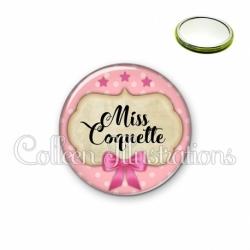 Miroir 56mm Miss coquette (006ROS03)