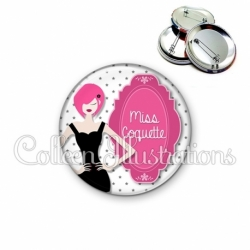 Badge 56mm Miss coquette (110BLA03)