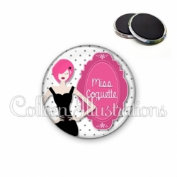 Magnet 56mm Miss coquette (110BLA03)