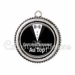 Pendentif résine Garçon d'honneur au Top ! (098NOI01)