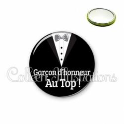 Miroir 56mm Garçon d'honneur au Top ! (098NOI01)