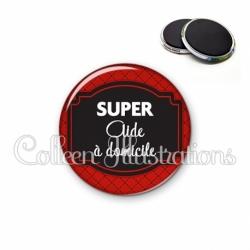 Magnet 56mm Super aide à domicile (013ROU01)