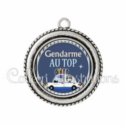 Pendentif résine Gendarme au top (031BLE01)