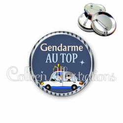 Badge 56mm Gendarme au top (031BLE01)