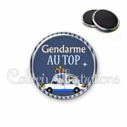 Magnet 56mm Gendarme au top (031BLE01)