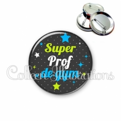 Badge 56mm Super prof de gym (157GRI04)