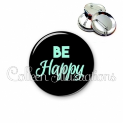 Badge 56mm Be happy (181NOI10)