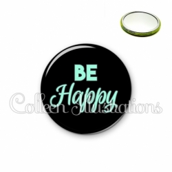 Miroir 56mm Be happy (181NOI10)