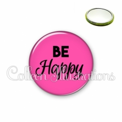 Miroir 56mm Be happy (181ROS02)
