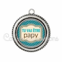 Pendentif résine Tu vas être papy (004BLE01)