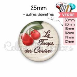 Cabochon en verre Le temps des cerises (187MAR01)
