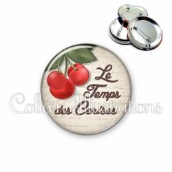 Badge 56mm Le temps des cerises (187MAR01)