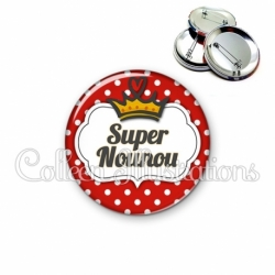 Badge 56mm Super nounou (006ROU09)