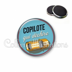 Magnet 56mm Copilote qui déchire (032BLE01)