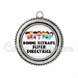 Pendentif résine Bonne retraite super directrice (046BLA02)
