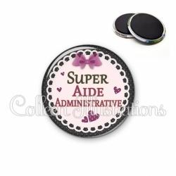 Magnet 56mm Super aide administrative (005VIO01)